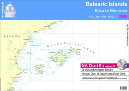 NV. Charts MED1 Balearic Islands - Ibiza do Menorc